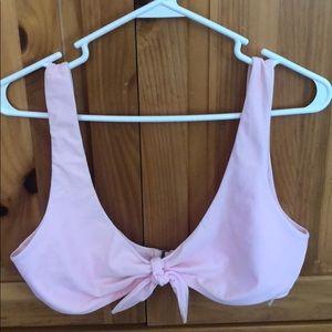 Baby pink bikini top